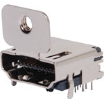 P1060 HDMI PCB Mount Socket With Mounting Tab