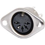 P1178 5 Pin Chassis Mount DIN Socket