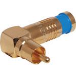 P1264 Blue RG59 90 Deg. Compression Crimp RCA