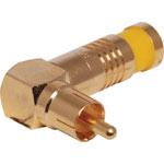 P1267 Yellow RG59 90 Deg. Compression Crimp RCA