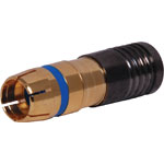 P1271 Blue RG6 Compression Crimp RCA
