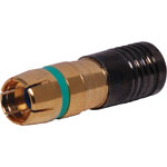 P1258 Green RG59 Compression Crimp RCA