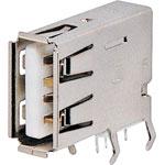 P1299A Type A 90 Deg. Vertical PCB Mount USB 2.0