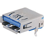 P1310 Type A 90 Deg. Horizontal PCB Mount USB 3.0
