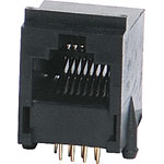 P1408A 8P8C RJ45 Modular Socket PCB Mount