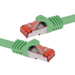 P1669A Green 0.3m Cat6a SSTP Ethernet Patch Cable