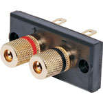 P2016 2 Way Speaker Terminal Binding Post Gold