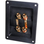 P2019 4 Way Speaker Terminal Binding Post Gold Rect.