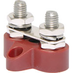 P2180 Dual Red M8 Power Distribution Post with Bridge Plate