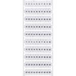 P2381 DIN Rail Labels 1-50 Suit 35A Terminals