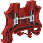 P2407 25A 2.5mm Red DIN Rail Terminal