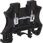 P2413 25A 2.5mm Black DIN Rail Terminal