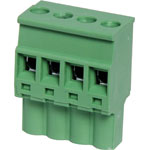 P2614 4 Way 5.08mm Vert. Pluggable Terminal Plug