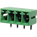 P2674 4 Way 3.81mm Horiz. PCB Mnt Boxed Pluggable Skt