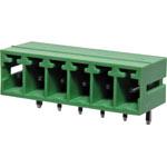 P2676 6 Way 3.81mm Horiz. PCB Mnt Boxed Pluggable Skt