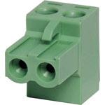 P2802 2 Way 5mm Offset Pluggable Terminal Plug