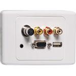 P6853 AV / USB Screw Connection Clipsal 2000 Wallplate