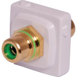 P7985 Green RCA to RCA Clipsal Clip-In Mechanism