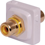 P7987 Yellow RCA to RCA Clipsal Clip-In Mechanism
