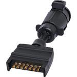 P8089 7 Pin Flat Plug To Large 7 Pin Round Socket Adapter