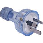 P8216 3 Pin 10A Clear Heavy Duty Mains Plug