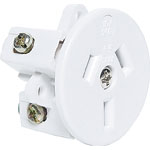 P8243 3 Pin 10A Flush Mount Mains Socket (Rear Wire Entry)