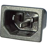 P8322 C14 Male  Socket Chassis Snap-In 10A IEC