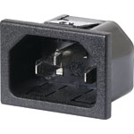P8321B C14 Male Socket Chassis Snap-In 10A IEC