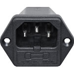 P8324 C14 Male Socket Chassis Mount Fused M205 10A IEC