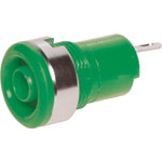 P9265 Green Safety Type Banana Socket