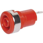 P9266 Red Safety Type Banana Socket