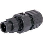 P9342 2 Pin 5A Locking Male Line IP67 Waterproof Plug
