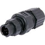 P9346 6 Pin 2A Locking Male Line IP67 Waterproof Plug