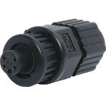 P9354 4 Pin 2A Locking Female Line IP66 Waterproof Socket
