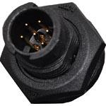 P9362 2 Pin 5A Locking Male Chassis IP66 Waterproof Plug