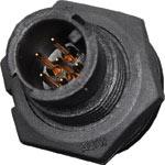 P9366 6 Pin 2A Locking Male Chassis IP66 Waterproof Plug