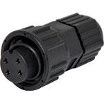 P9404A 4 Pin 5A Screw-On Female Line IP67 Waterproof Socket