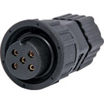 P9405 5 Pin 5A Screw-On Female Line IP66 Waterproof Socket