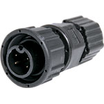 P9454 4 Pin 5A Screw-On Male Line IP66 Waterproof Socket