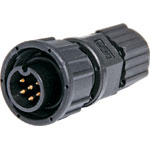 P9456 6 Pin 5A Screw-On Male Line IP66 Waterproof Socket