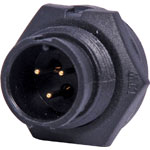 P9463 3 Pin 5A Locking Male Chassis IP67 Waterproof Plug