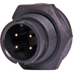 P9464 4 Pin 5A Locking Male Chassis IP67 Waterproof Plug