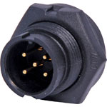 P9465 5 Pin 5A Locking Male Chassis IP67 Waterproof Plug