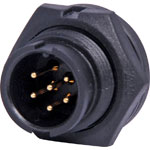 P9466 6 Pin 5A Locking Male Chassis IP67 Waterproof Plug