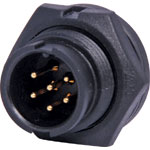 P9466A 6 Pin 5A Locking Male Chassis IP67 Waterproof Plug