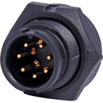 P9467 7 Pin 5A Locking Male Chassis IP67 Waterproof Plug