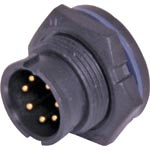 P9467A 7 Pin 5A Locking Male Chassis IP67 Waterproof Plug