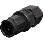 P9472 2 Pin 5A Locking Male Line IP67 Waterproof Plug