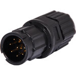 P9478 8 Pin 5A Locking Male Line IP67 Waterproof Plug