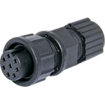 P9488 8 Pin 5A Locking Female Line IP67 Waterproof Socket